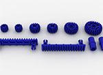 小齿轮齿条积木零件包